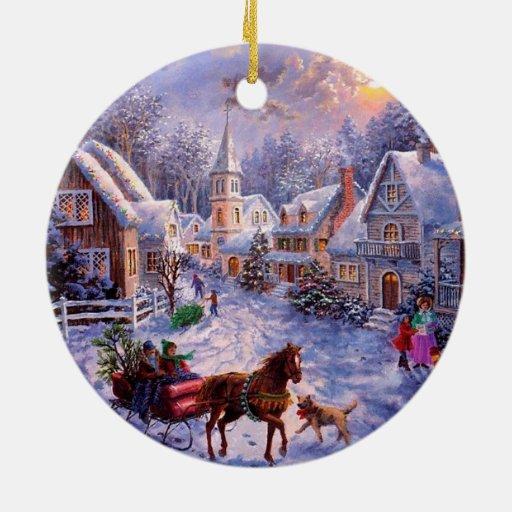 Religious Christmas Ornament Assortment: Vintage Religious Nativity Christmas Ornament