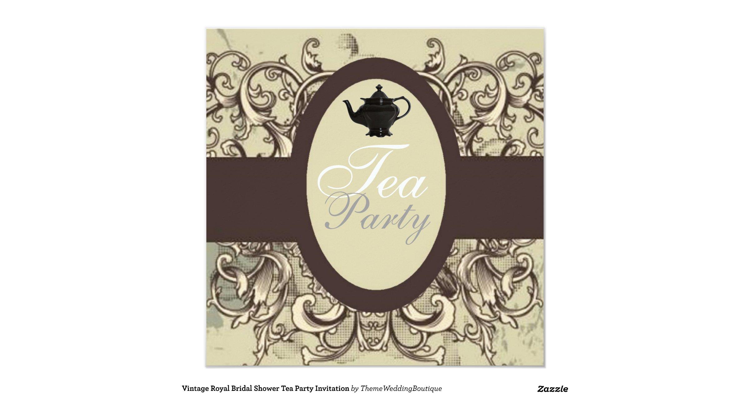 Vintage Tea Party Wedding Invitations: Vintage_royal_bridal_shower_tea_party_invitation