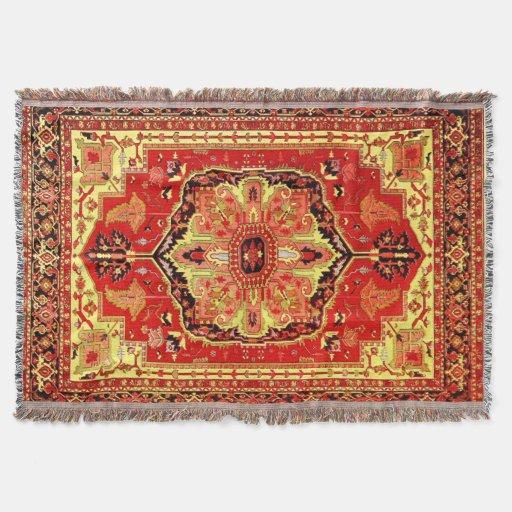 Vintage Rug Pattern Throw Blanket