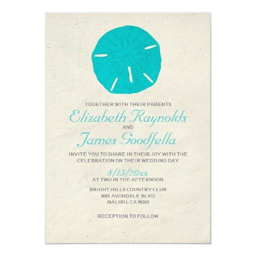 Vintage Sand Dollar Wedding Invitations
