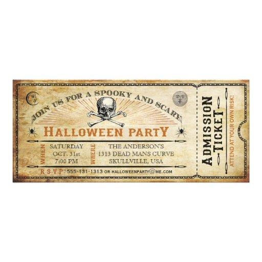 Personalized Skull Invitations