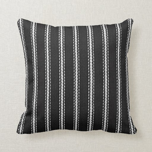 Quot Vintage Style Quot Black White Striped Ticking Med Throw