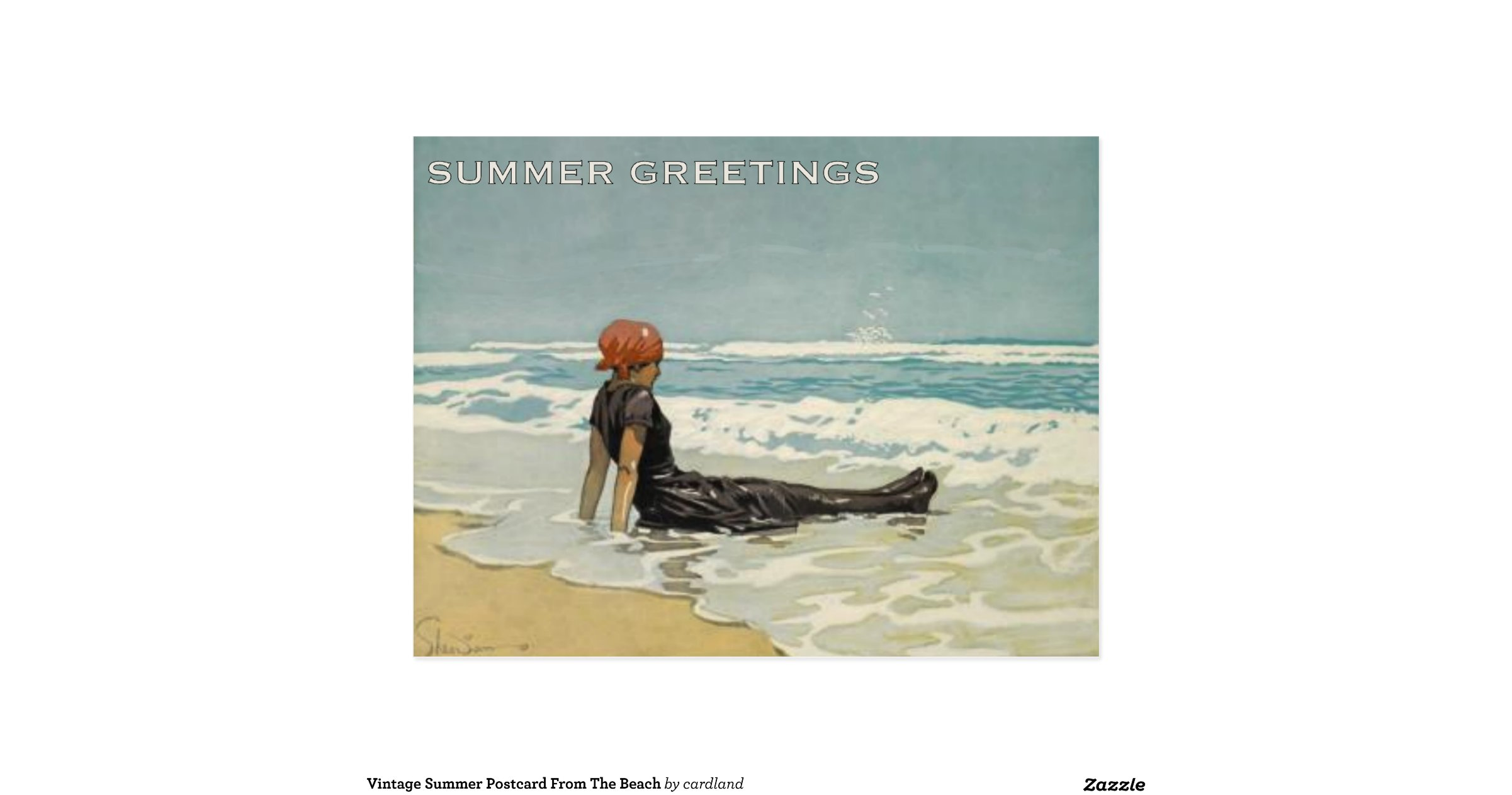 vintage_summer_postcard_from_the_beach ...