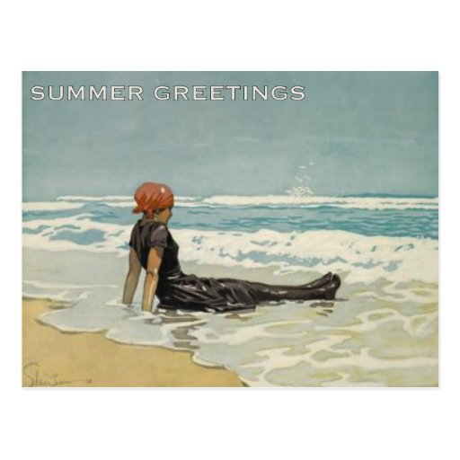 Vintage Summer Postcard From The Beach   Zazzle