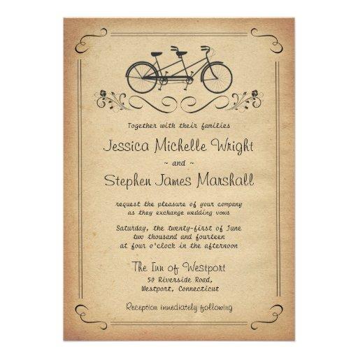 Bicycle Wedding Invitations, 800+ Bicycle Wedding