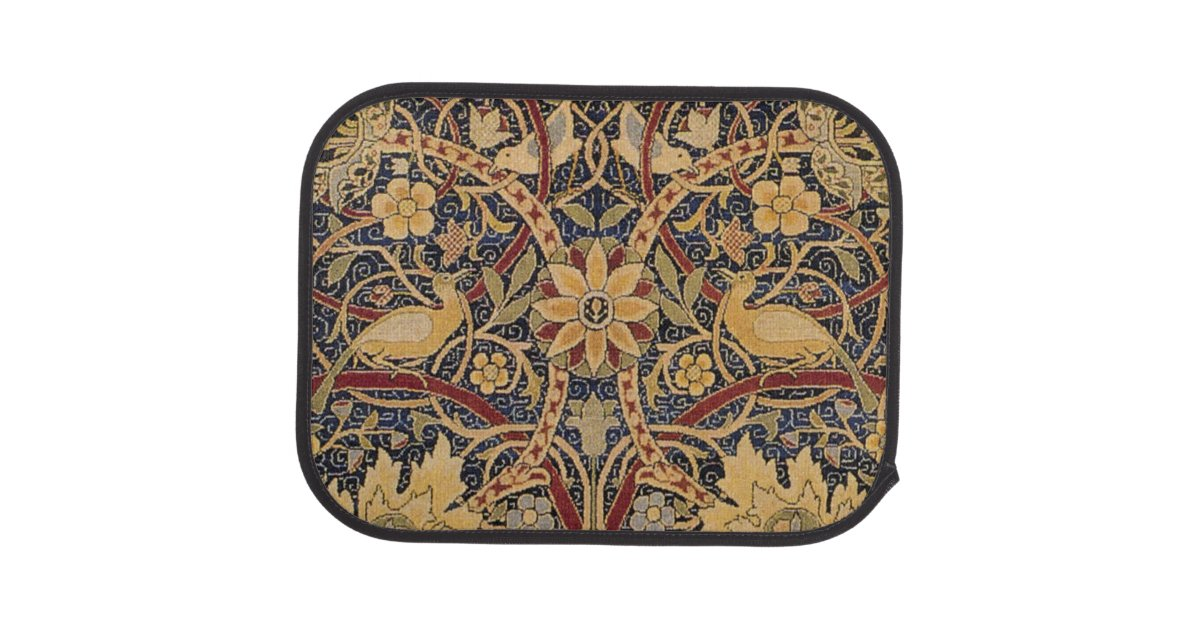 Vintage Tapestry Floral Fabric Pattern Car Mat Zazzle