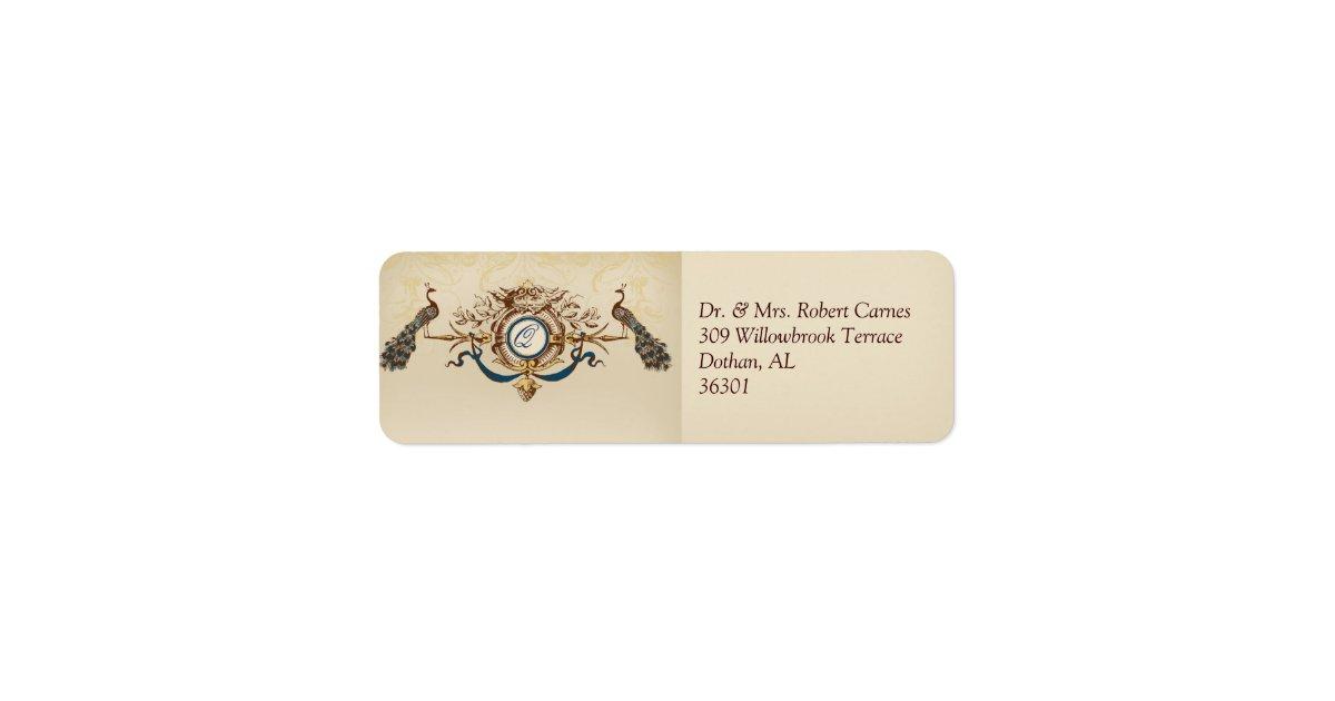 Return Labels For Wedding Invitations: Vintage Wedding Invitation Return Address Labels