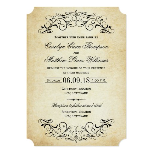 Vintage Wedding Invitations: Vintage Wedding Invitations