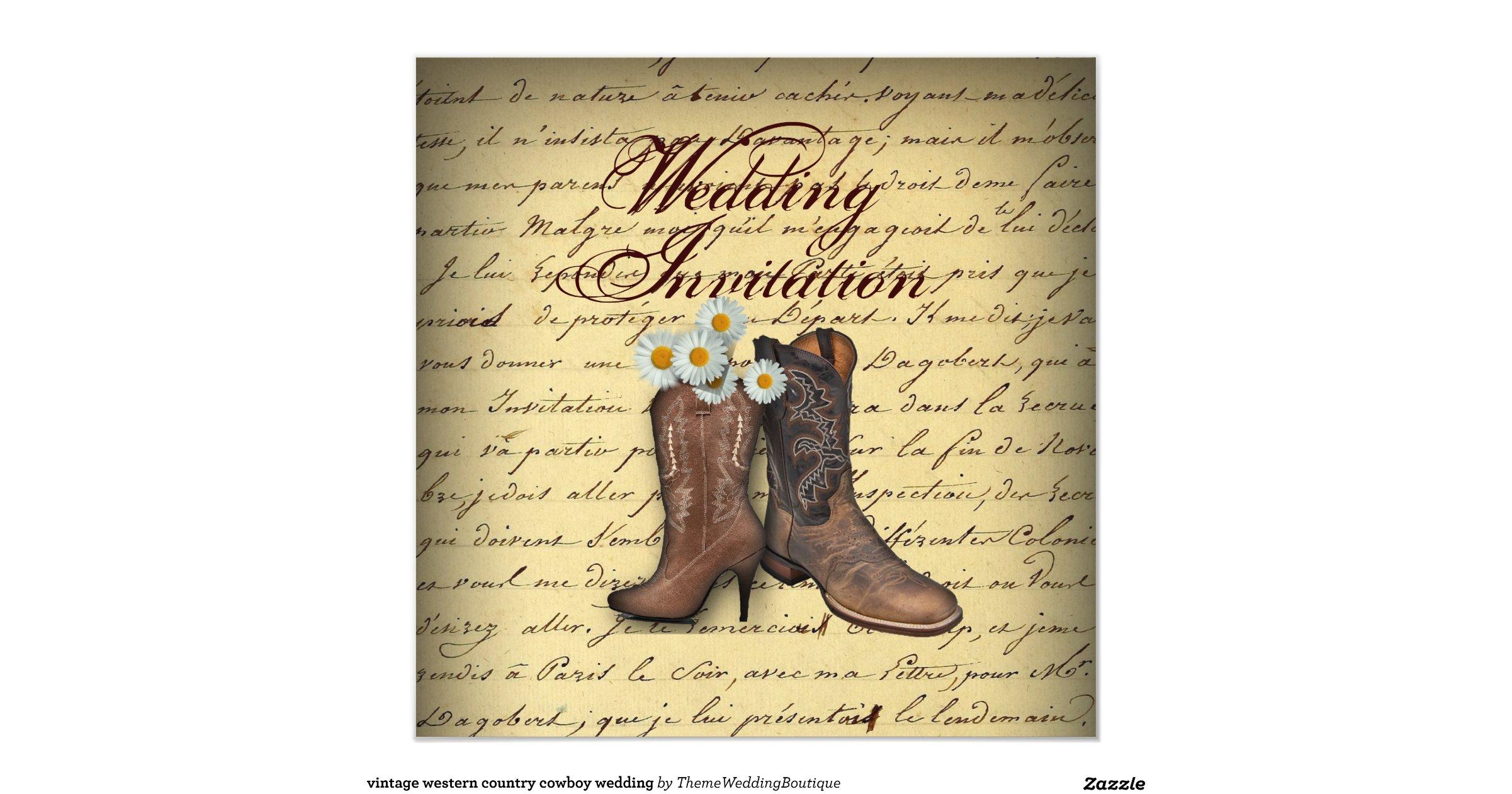 Cowboy Boot Wedding Invitations: Vintage_western_cowboy_boots_wedding_invitation