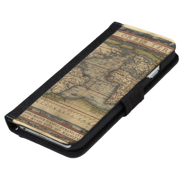 Iphone 6 World Map Case.Vintage World Map Antique Atlas Iphone 6 Wallet Case
