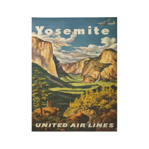 Cheap Posters Yosemite United Air Lines Vintage Travel Poster