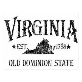 Virginia state postcards postcard template designs for Dominion card template