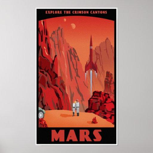 Visit Mars Poster   Zazzle