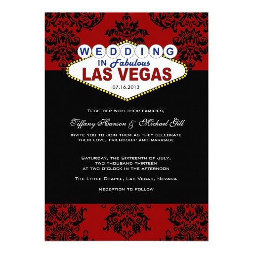 """Las Vegas Wedding Invitation Wording: Viva Las Vegas Wedding Invitation 5"""" X 7"""" Invitation Card"""