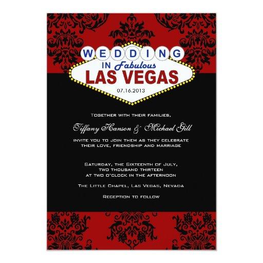 Las Vegas Wedding Invitation Wording: Viva Las Vegas Wedding Invitation