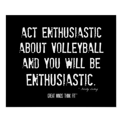 Motivational Quotes For Sports Teams: Volleyball Motivational Poster 012 - Grunge