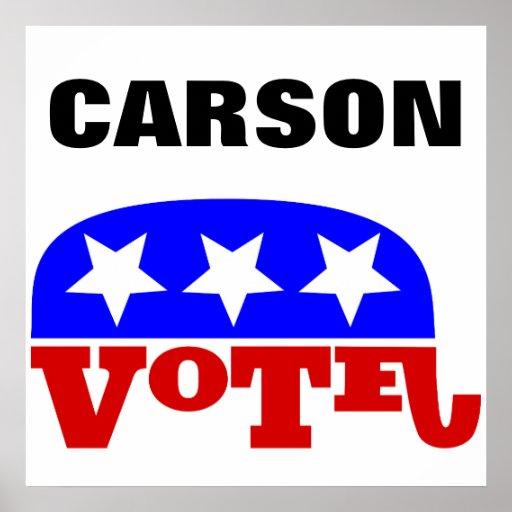 vote dr ben carson republican elephant poster zazzle. Black Bedroom Furniture Sets. Home Design Ideas