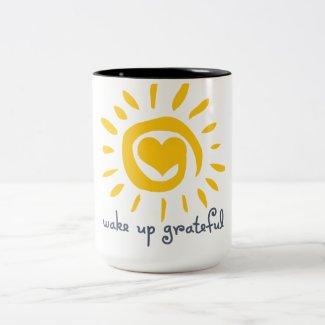 Wake Up Grateful Two-Tone Coffee Mug