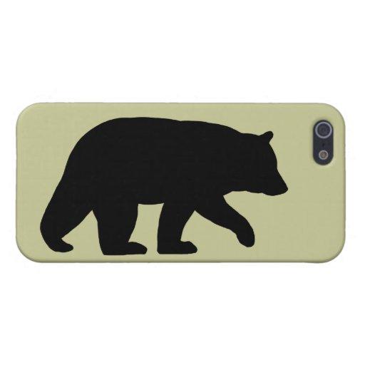 Walking Black Bear Silhouette iPhone SE/5/5s Case | Zazzle