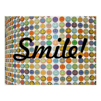 Wall of smiling faces poster zazzle_print