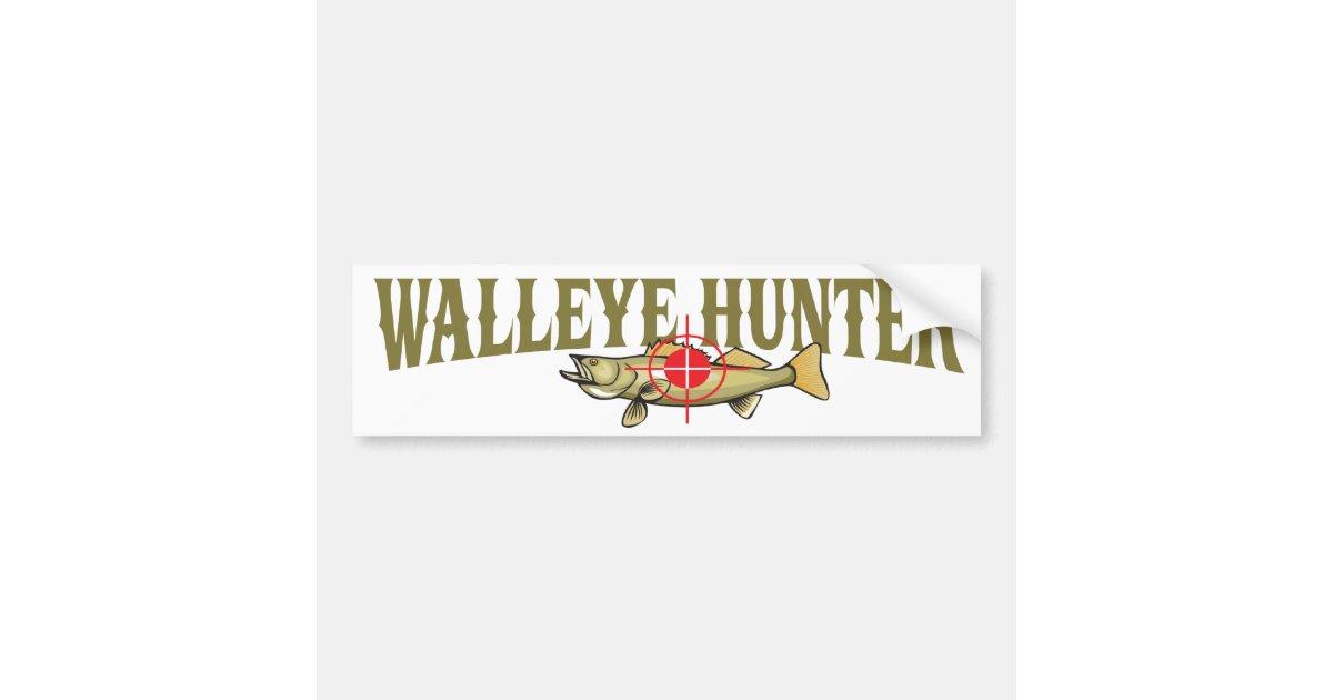 Walleye Hunter Bumper Sticker | Zazzle