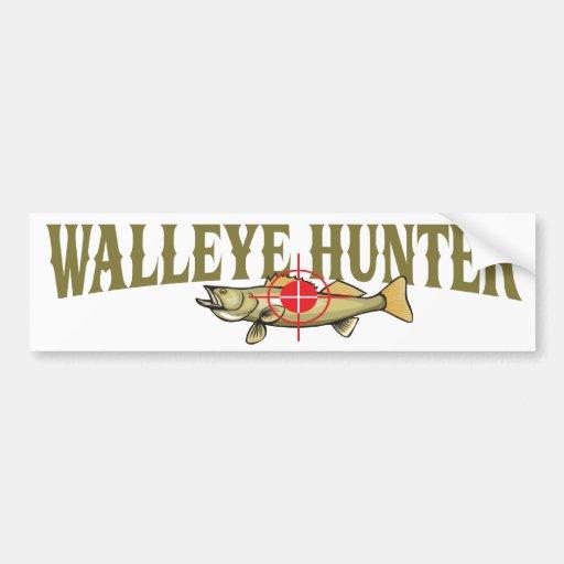 Walleye Hunter Bumper Stickers | Zazzle