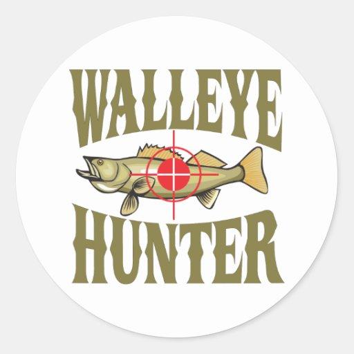 Walleye Hunter Sticker | Zazzle