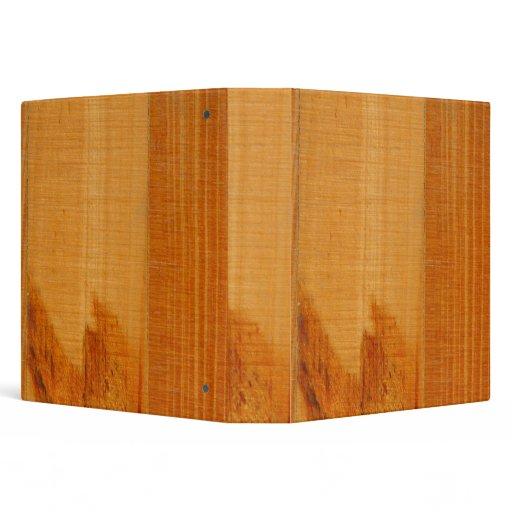 Warm Wooden Boards 3 Ring Binder