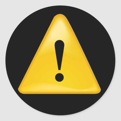 Warning Symbol Exclamation Point Triangle Classic Round