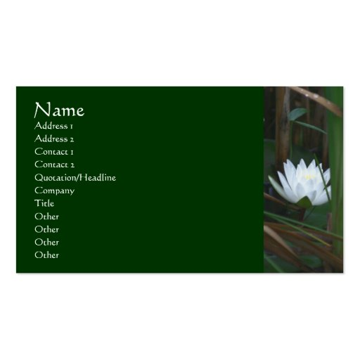 Water Lily Lotus Flower Business Card