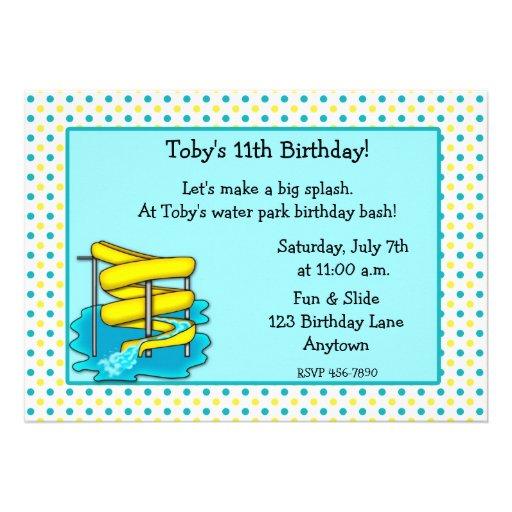 Water Park Birthday Invitation