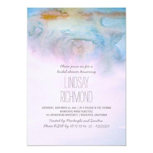 Watercolor Modern Bridal Shower Invitation Zazzle
