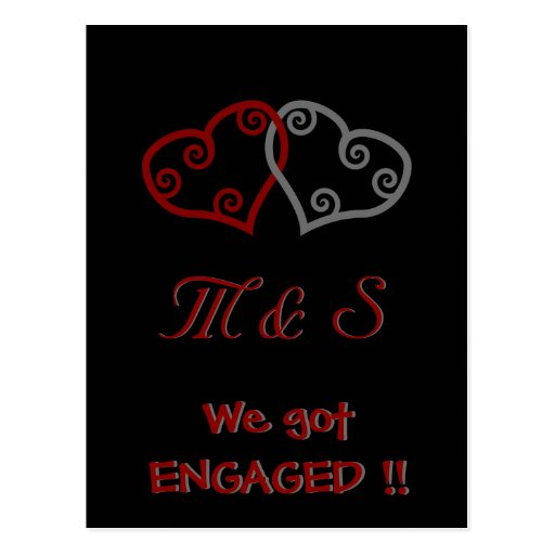 Just Got Engaged Now What: We Just Got ENGAGED! Postcard