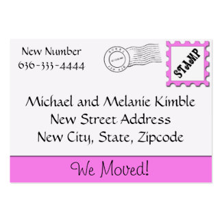 we have moved cards templates - change of address business cards templates zazzle