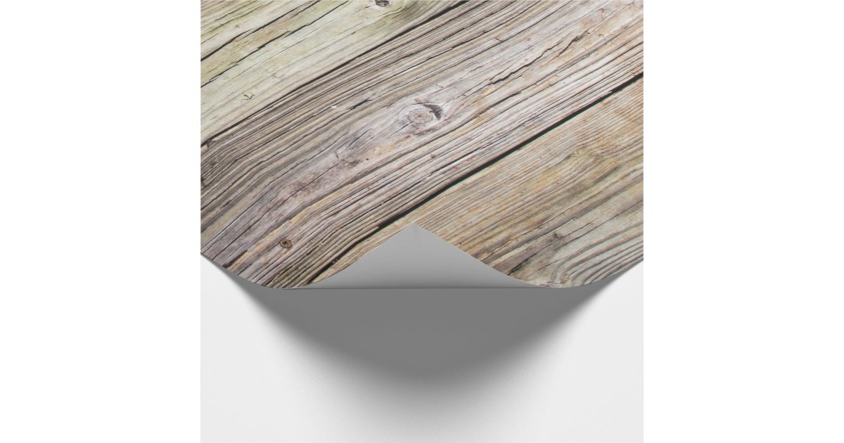 Weathered Wood Boards Wrapping Paper Zazzle