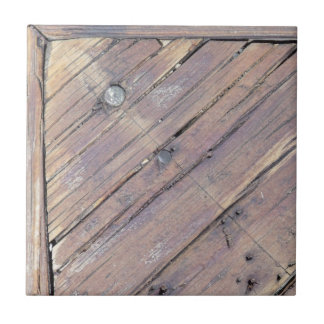 Weathered Wood Rough Textured Deck Tiles
