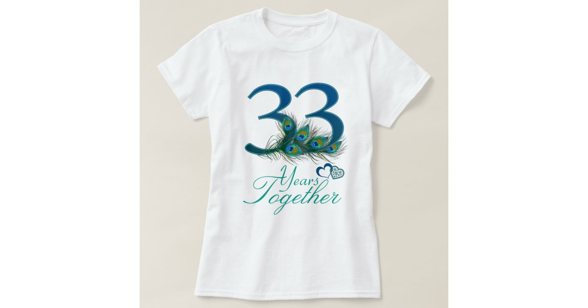 33rd Wedding Anniversary Gifts: Wedding Anniversary / 33 / 33rd / Number 33 T-Shirt
