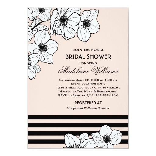 Wedding Bridal Shower Invitation | Anemone Flowers 5
