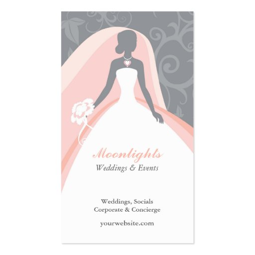 Off White Wedding Gown Meaning: Wedding Bridal White Dress Business Card