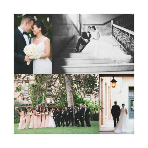 Wedding Photography Printing: Wedding Canvas Print With YOUR PHOTOS