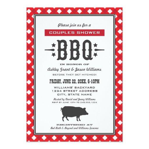 Backyard BBQ Theme Card