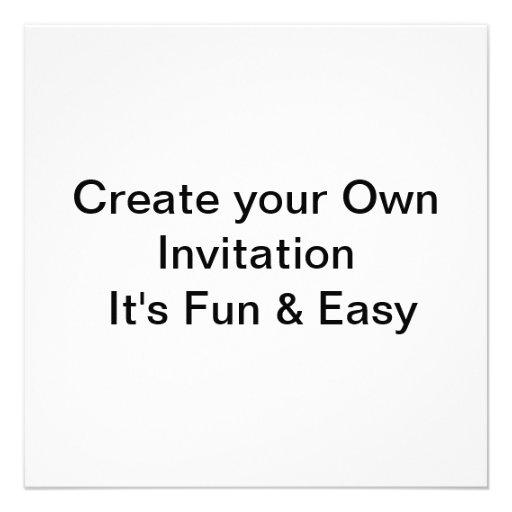 "Printing Your Own Wedding Invitations: Wedding Create Your Own Invitation 5.25"" Square Invitation"