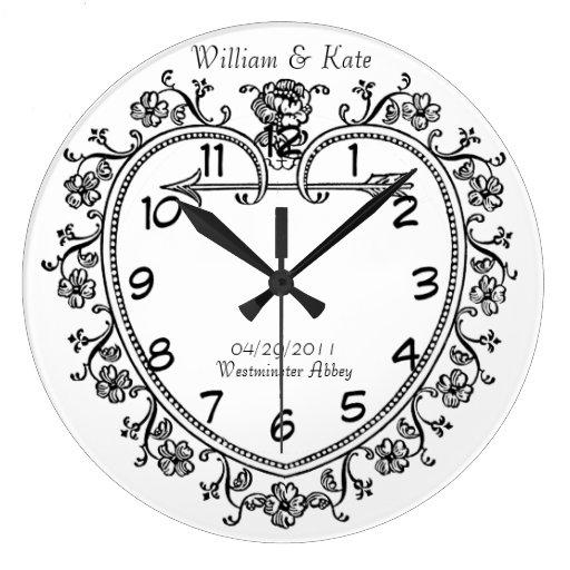 Wedding Clock Gift: Wedding Date Commemorative Gift Vintage Clock