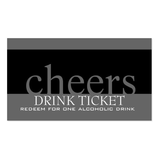 Wedding drink ticket for reception business card zazzle for Complimentary drink ticket template