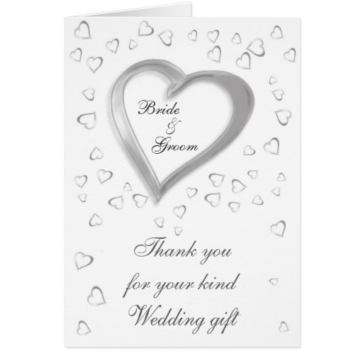 Thank You For Wedding Gift: Wedding Gift Thank You Card