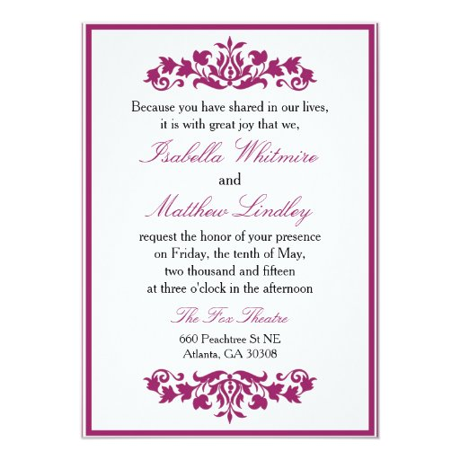 "Sangria Wedding Invitations: Wedding Invitation ""Budding Garden"" Sangria Wine"