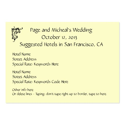 Wedding Invitations Business: Wedding Invitation Hotel Reservation Suggestion Large