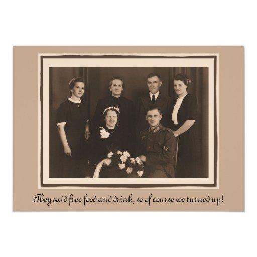 Humor Wedding Invitations: Wedding Invitation Humor Funny Custom Text