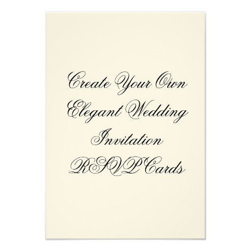Invitation Maker Design Your Own Custom Invitation Cards: Wedding Invitation RSVP Cards Create Your Own