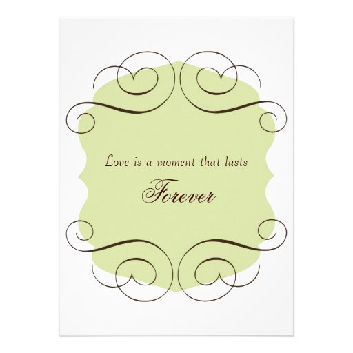 "Love Quotes Wedding Invitation: Wedding Invitations With Love Quote 5.5"" X 7.5"" Invitation"